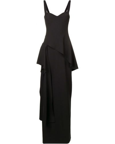 Вечернее платье с драпировкой - черное Chalayan