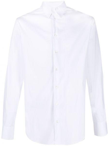 С рукавами белая классическая рубашка с воротником Giorgio Armani
