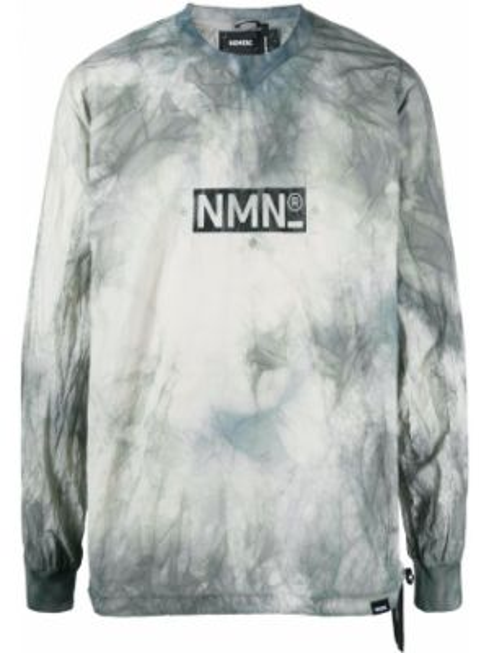 С рукавами серый свитер на резинке с манжетами Nemen