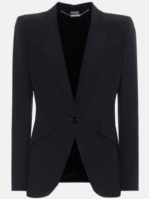 Классический пиджак черный из вискозы Alexander Mcqueen