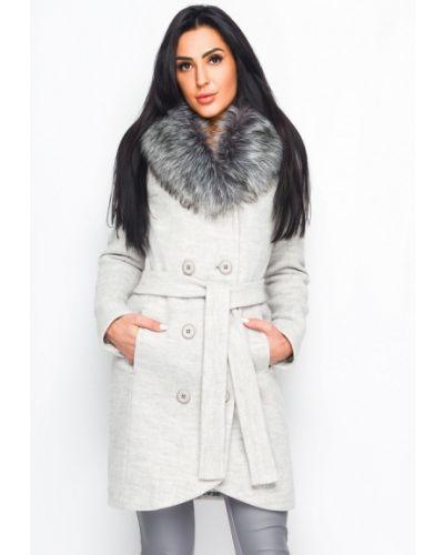 Пальто белое осеннее Carica&x-woyz