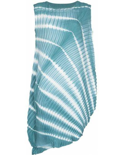 Платье трапеция с принтом без рукавов с вырезом Issey Miyake