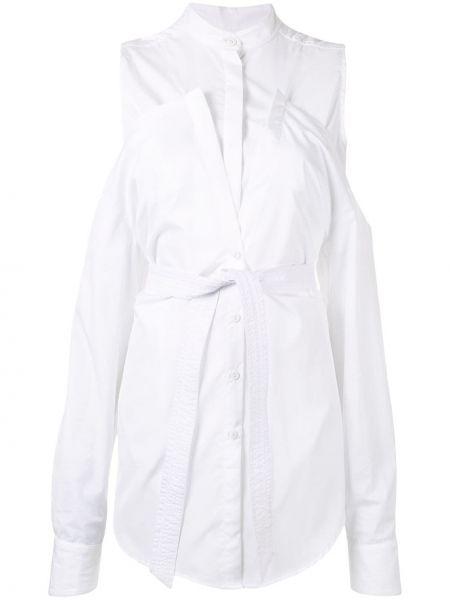 Рубашка с завязками - белая Strateas Carlucci