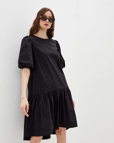 Прямое черное платье А-силуэта Blauz