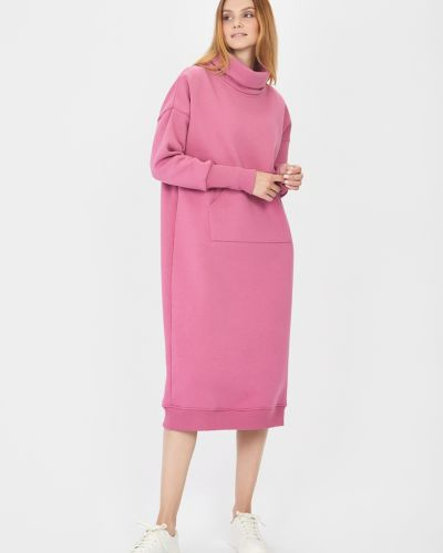 Трикотажное платье - розовое Baon