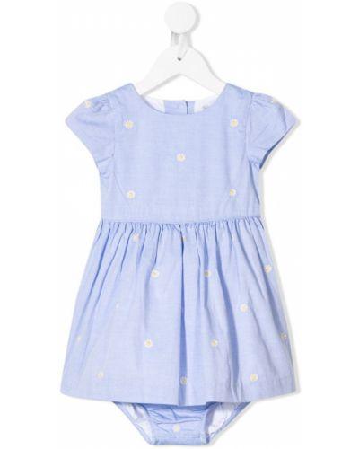 Платье с принтом плиссированное Ralph Lauren Kids