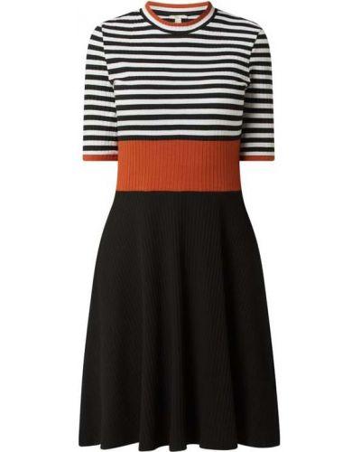 Czarna sukienka prążkowana Edc By Esprit