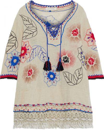 Tunika koronkowa bawełniana z haftem Anjuna