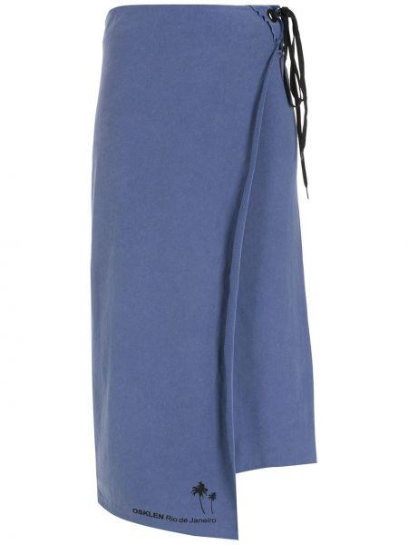 Niebieska spódnica ołówkowa bawełniana Osklen