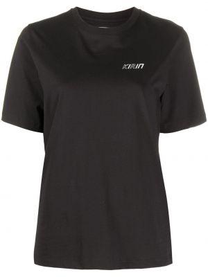 Czarny t-shirt bawełniany z printem Kirin