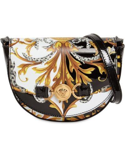 С ремешком сумка металлическая золотая Versace