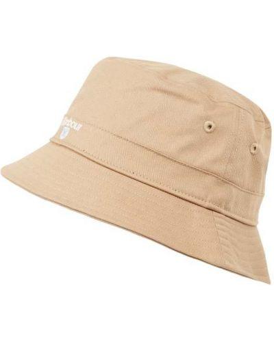 Beżowa czapka bawełniana Barbour