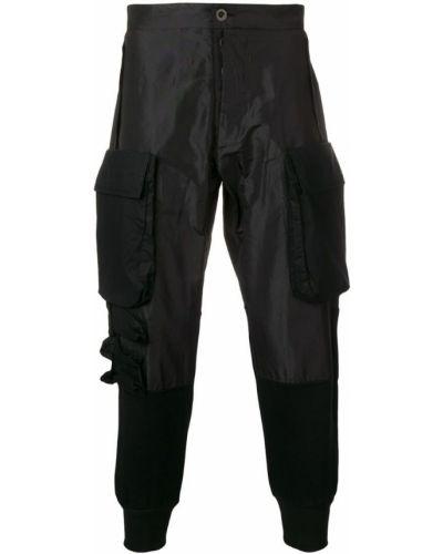 Брюки карго черные с карманами Unravel Project