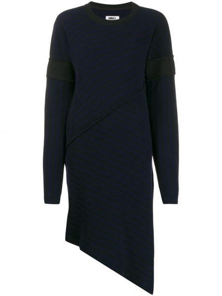 Платье макси в полоску в рубчик Mm6 Maison Margiela