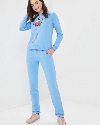 Голубой брючный костюм Fashion.love.story