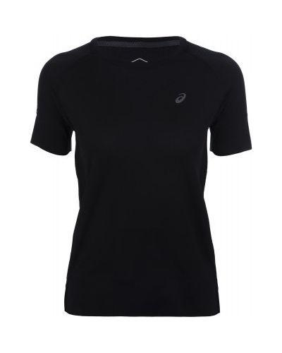Спортивная футболка черная приталенная Asics