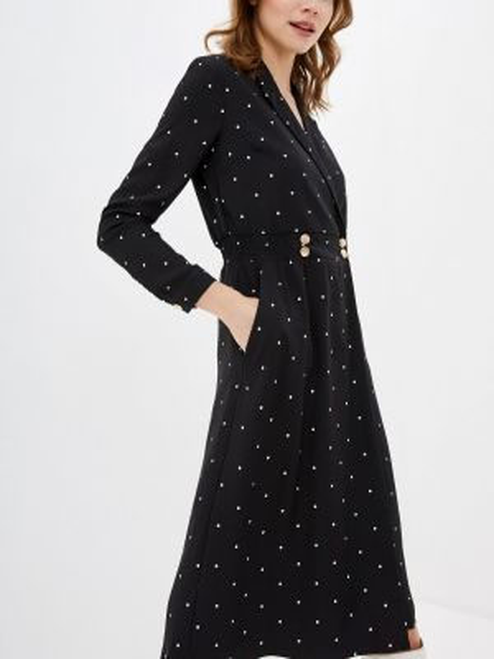 Платье с запахом черное Incity
