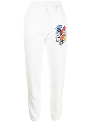 Białe spodnie bawełniane Fiorucci