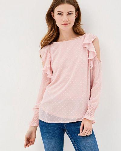 Розовая блузка с рюшами Springfield