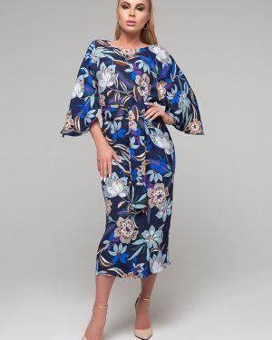Платье с поясом платье-сарафан из вискозы петербургский швейный дом