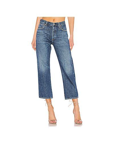 Прямые джинсы укороченные свободные Citizens Of Humanity