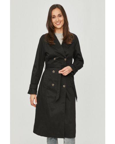 Klasyczny czarny trencz bawełniany Vero Moda