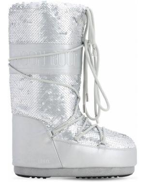 Buty skórzany zasznurować Moon Boot