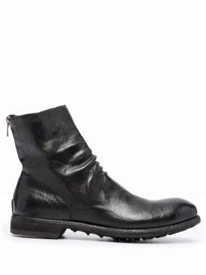 Кожаные ботинки - черные Officine Creative