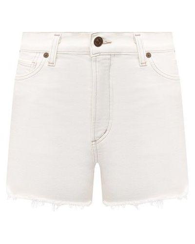 Хлопковые белые джинсовые шорты Citizens Of Humanity