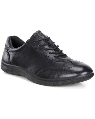 Кожаные кроссовки черные мягкие Ecco