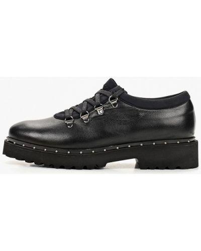 Кожаные ботинки черные кожаные Hestrend