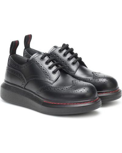 Skórzany buty brogsy Alexander Mcqueen