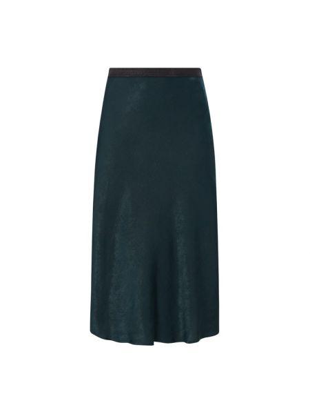 Satyna zielony spódnica midi elastyczny Gerry Weber