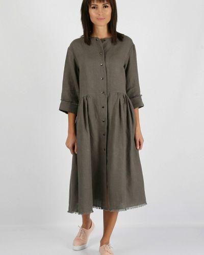 Платье миди осеннее серое Morandi