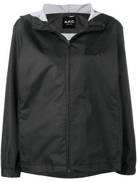 Прямая черная длинное пальто на пуговицах A.p.c.