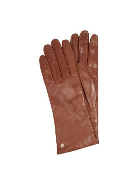 Brązowe rękawiczki skorzane Roeckl