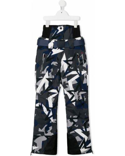 Прямые синие брюки с карманами на пуговицах Perfect Moment Kids