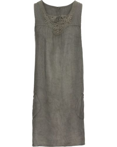 Летнее платье на шнуровке хаки Bonprix