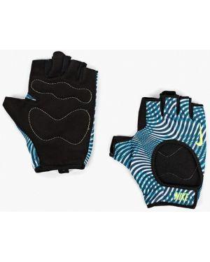 Перчатки бирюзовый для фитнеса Nike