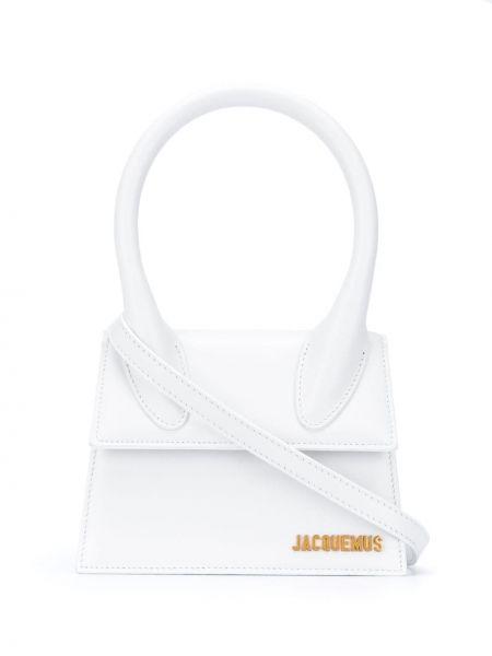 Белая кожаная сумка-тоут круглая Jacquemus