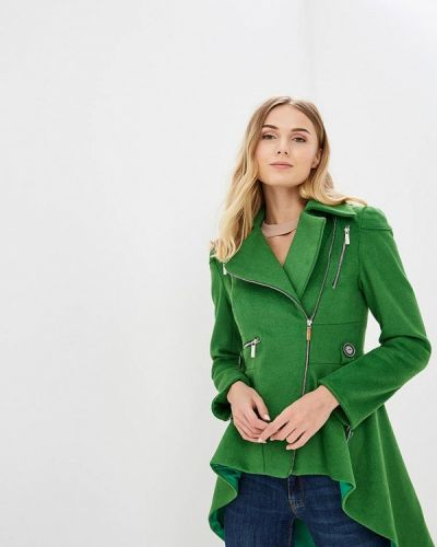 Пальто демисезонное зеленое Tutto Bene