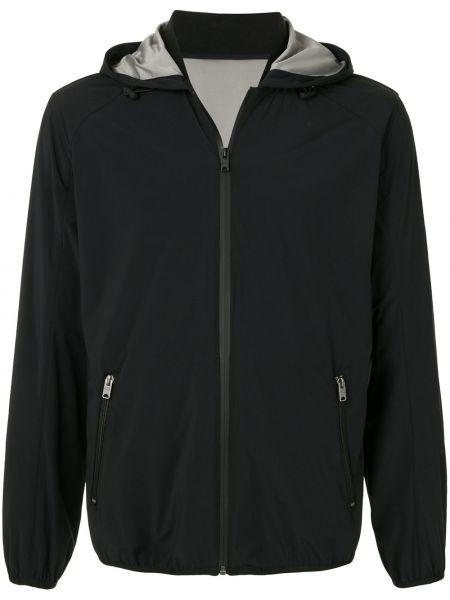 Czarna kurtka z kapturem z nylonu Kent & Curwen