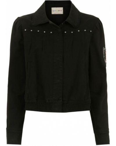 Черная джинсовая куртка с вышивкой Andrea Bogosian