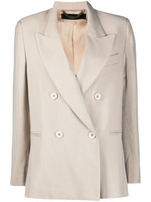 Удлиненный пиджак двубортный с карманами на пуговицах Federica Tosi