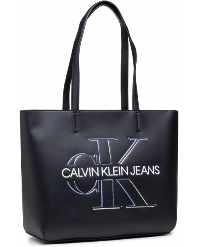 Czarna torba na zakupy Calvin Klein Jeans