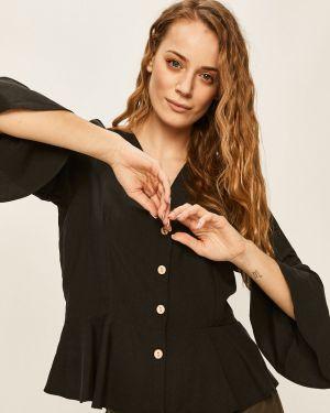 Блузка с длинным рукавом однотонная с кокеткой Answear