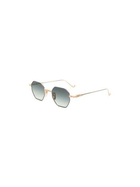 Тонкие синие солнцезащитные очки металлические Chrome Hearts
