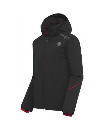Куртка горнолыжная с капюшоном - черная Descente