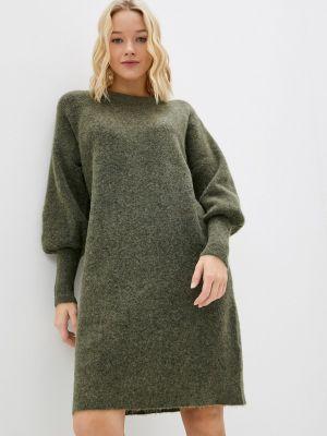 Зимнее платье хаки Selected Femme