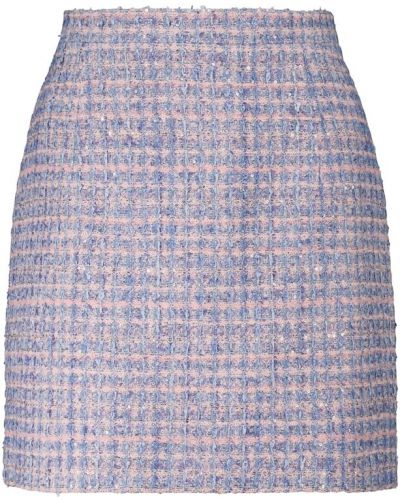 Spódnica tweedowa - niebieska Alessandra Rich